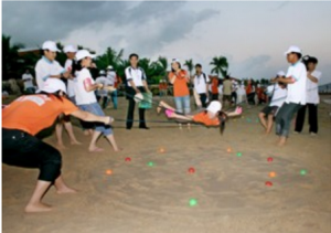 Game team building gỡ mìn