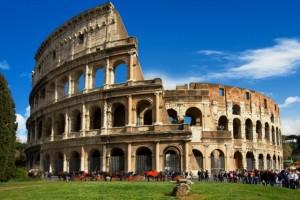 72-82 A.D., Rome, Italy --- Coliseum in Rome --- Image by © Jean-Pierre Lescourret/Corbis