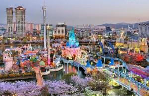 Du lịch Hàn Quốc - lotte world
