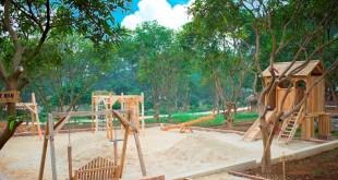 Bãi cát vui chơi tự do - Bản Rõm